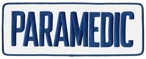 """PARAMEDIC Back Patch, Royal Blue/White, 11x4"""""""
