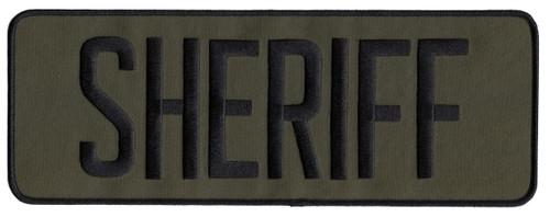 """SHERIFF Back Patch, Black/O.D., 11x4"""""""