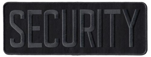 "SECURITY Back Patch, Grey/Black, 11x4"""