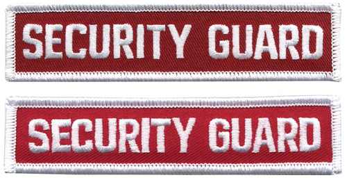"""SECURITY GUARD Tab Patch, 4-1/2x1"""""""