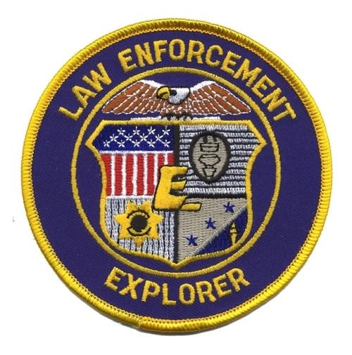 """LAW ENFORCEMENT EXPLORER Shoulder Patch, 4"""" Circle"""