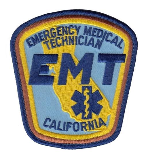 CA EMT Shoulder Patch, 3-3/4 X 4