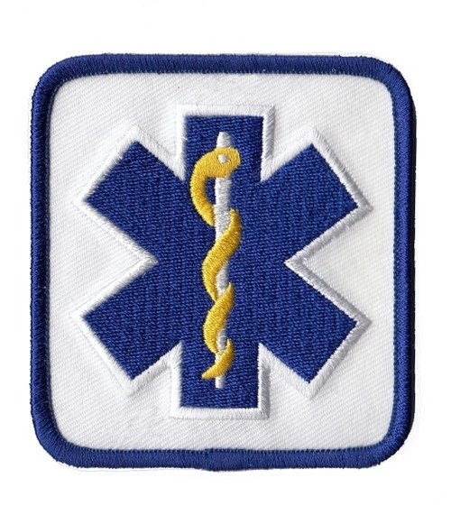 """Star of Life Shoulder Patch, 2-7/8 x 3-1/8"""""""