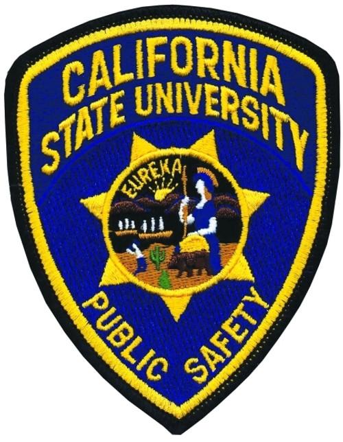 CA STATE UNIVERSITY PUBLIC SAFETY Shoulder Patch, 3-13/16x4-7/8