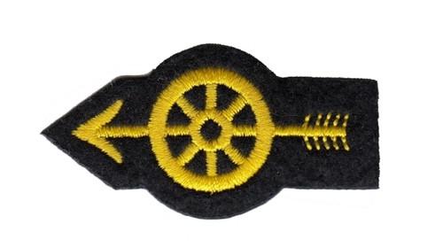 """Wheel w/Arrow Patch, 2-1/4x1"""""""
