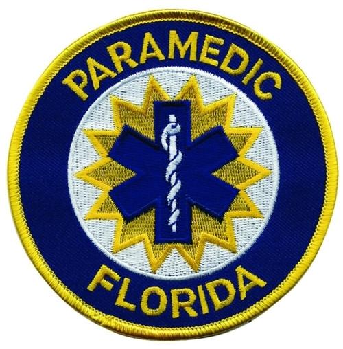 """FLORIDA PARAMEDIC Shoulder Patch, 4"""" Circle"""