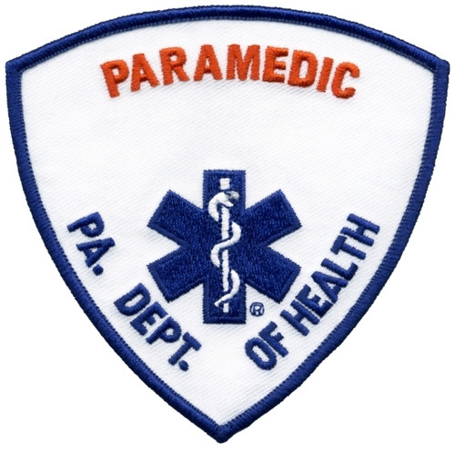 """PA DEPT OF HEALTH, PARAMEDIC Patch, 3-3/4 x 3-3/4"""""""