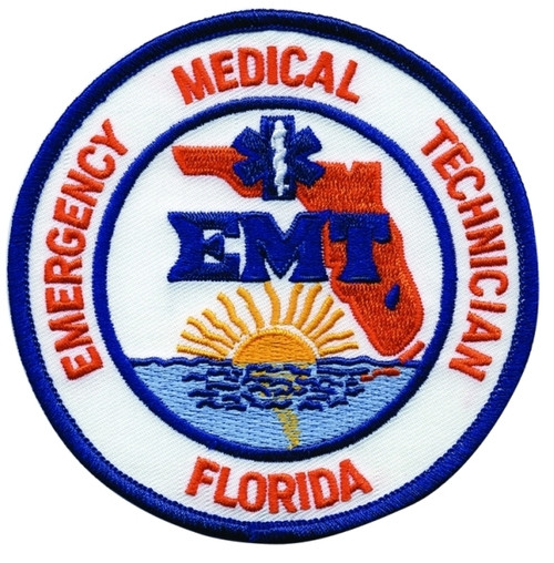 """FLORIDA EMT Shoulder Patch, 4"""" Circle"""