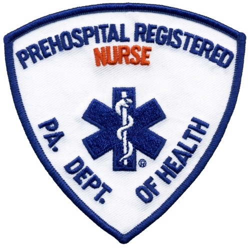 "PA DEPT OF HEALTH PREHOSPITAL REG NURSE Shoulder Patch, 3-3/4x3-3/4"""