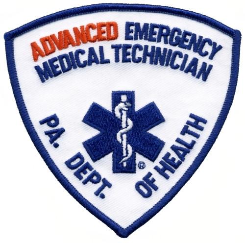 """PA DEPT OF HEALTH ADV EMT Shoulder Patch, 3-3/4x3-3/4"""""""