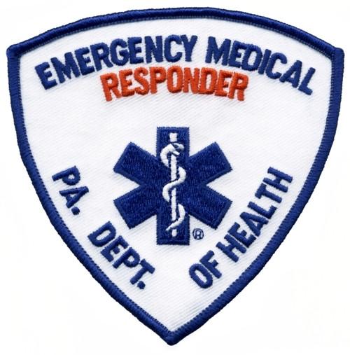 """PA DEPT OF HEALTH EMERG MED RESPONDER Shoulder Patch, 3-3/4x3-3/4"""""""