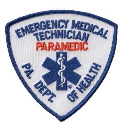 """PA DEPT OF HEALTH EMT PARAMEDIC Shoulder Patch, 3-3/4x3-3/4"""""""