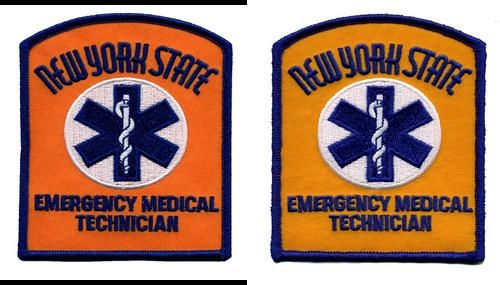 """NY STATE EMT Shoulder Patch, 3-1/8x4"""""""