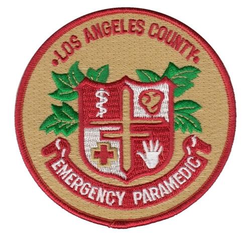 "L.A. COUNTY EMERG PARAMEDIC Shoulder Patch, 4"" Circle"
