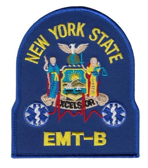 """NY EMT-B Shoulder Patch, 4X4-3/4"""""""