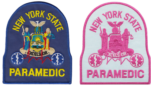 "NY PARAMEDIC Shoulder Patch, 4X4-3/4"""