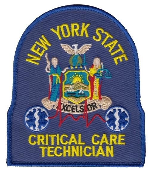 "NY CRIT CARE TECH Shoulder Patch, 4X4-3/4"""