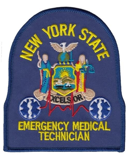 """NY EMT Shoulder Patch, 4X4-3/4"""""""