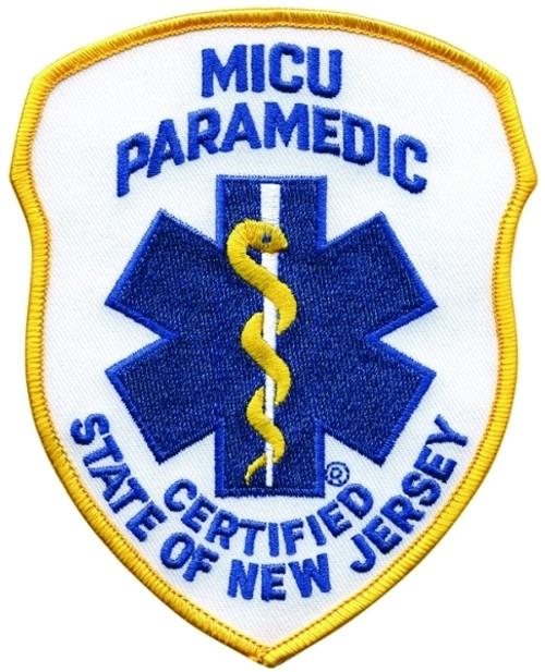 """NJ MICU PARAMEDIC Shoulder Patch, 4x5"""""""