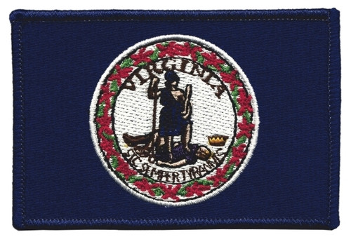"""Virginia State Flag Patch, 3-1/2x2-1/4"""""""