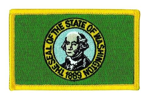 "Washington State Flag Patch, 3-3/8x2-1/8"""