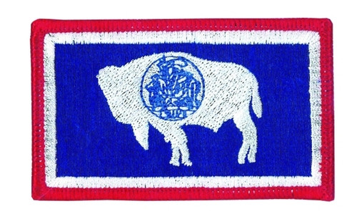 """Wyoming State Flag Patch, 3-3/8x2"""""""