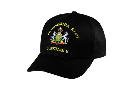 PENNSYLVANIA STATE CONSTABLE Cap, Black, Adjustable