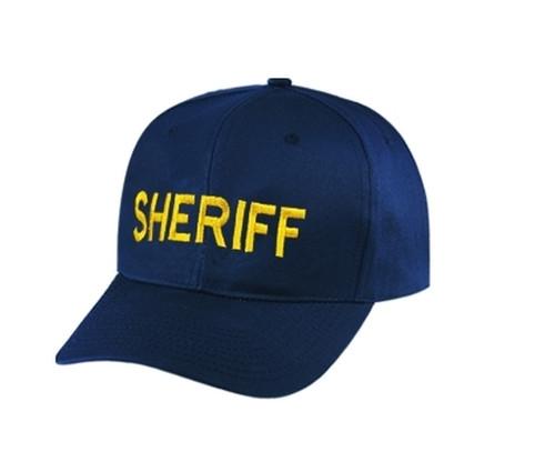 SHERIFF Cap, Med Gold/Dark Navy, Adjustable