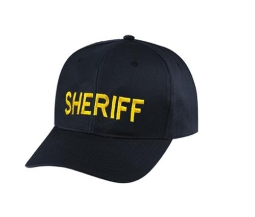 SHERIFF Cap, Med Gold/Black, Adjustable