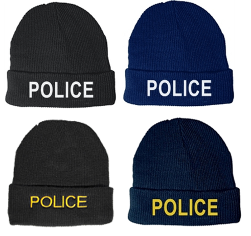 POLICE Watch Cap, Fleece, One Size Fits All