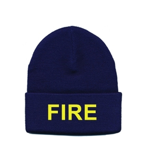 FIRE Watch Cap, Gold/Navy, One Size Fits All