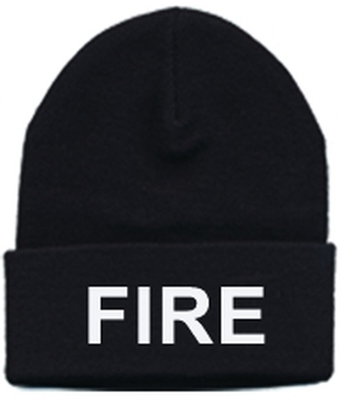 FIRE Watch Cap, White/Black, One Size Fits All