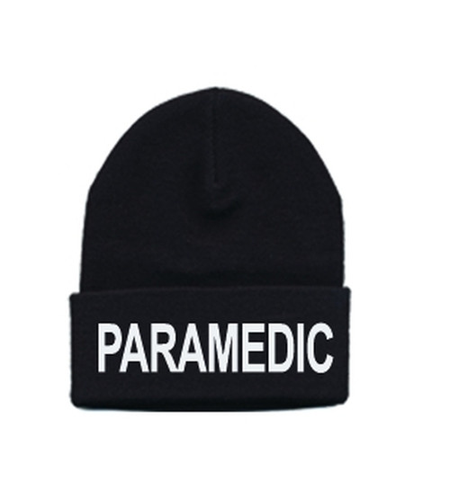 PARAMEDIC Watch Cap, White/Black, One Size Fits All