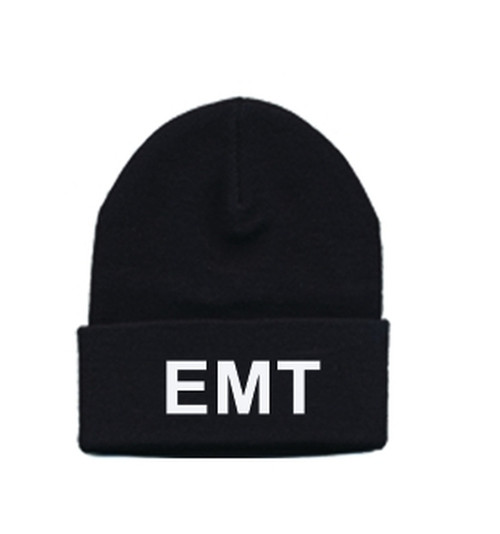 EMT Watch Cap, White/Black, One Size Fits All