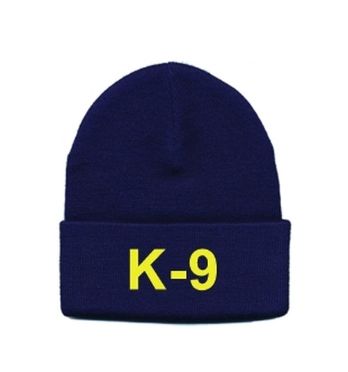 K-9 Watch Cap, Med Gold/Navy, One Size