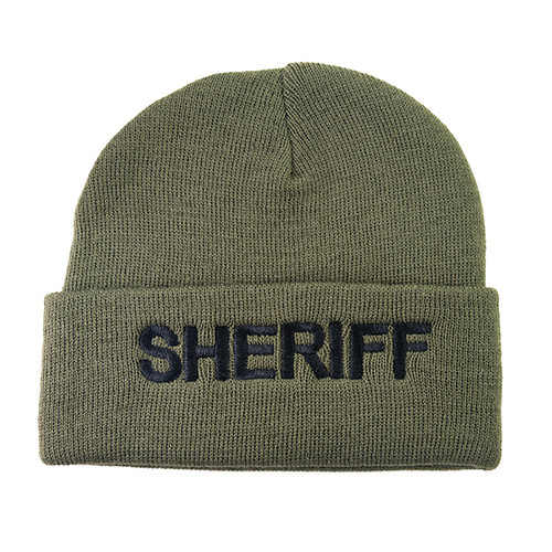 SHERIFF Watch Cap, Black/O.D., One Size Fits All