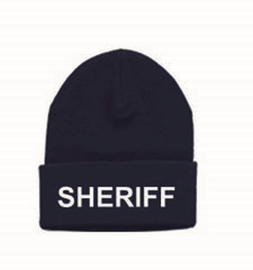 SHERIFF Watch Cap, White/Dark Navy, One Size