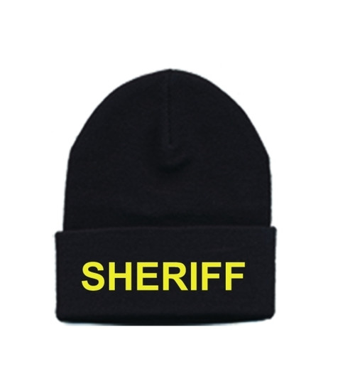 SHERIFF Watch Cap, Med Gold/Black, One Size