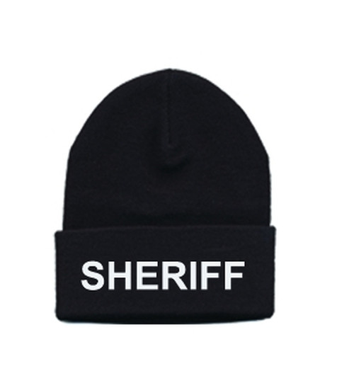 SHERIFF Watch Cap, White/Black, One Size Fits All