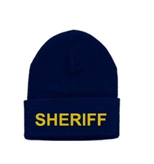 SHERIFF Watch Cap, Med Gold/Dark Navy, One Size
