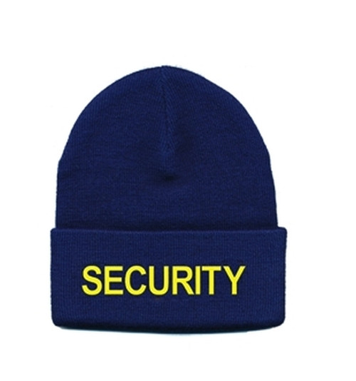 SECURITY Watch Cap, Med Gold/Navy, One Size