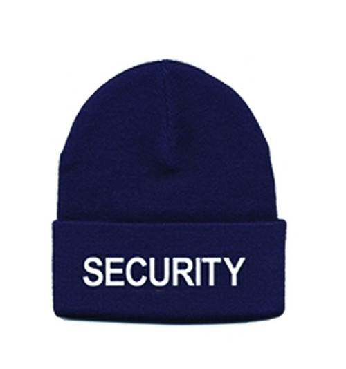 SECURITY Watch Cap, White/Navy, One Size Fits All