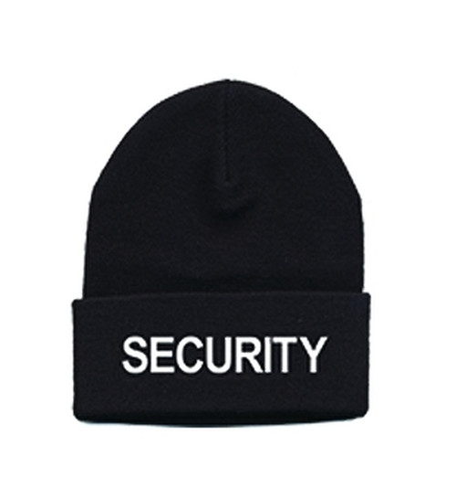 SECURITY Watch Cap, White/Black, One Size Fits All