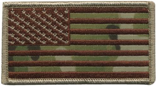 """U.S. Flag Patch, Hook, Desert/OCP,3-1/4x1-13/16"""""""