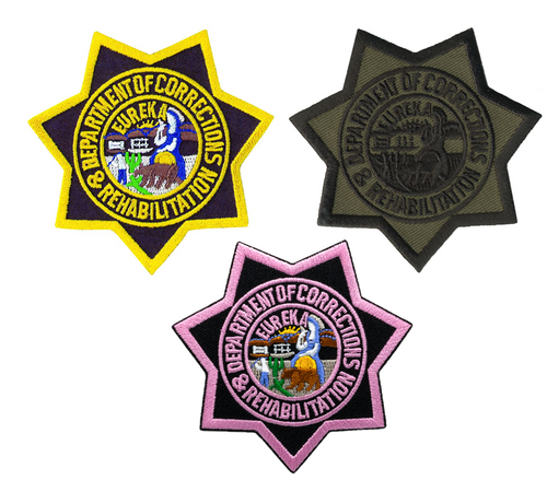 """CDCR Star Badge Patch, 3x3"""""""