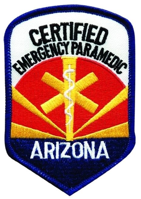 """AZ CERTIFIED EMERGENCY PARAMEDIC Patch, 3x4-1/4"""""""