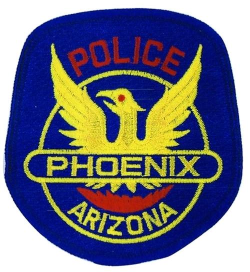 "PHOENIX ARIZONA POLICE Patch, Full Color, 3-1/3-3/4"""