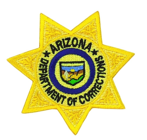 """ARIZONA DEPARTMENT OF CORRECTIONS Star Badge Patch, Full Color, 3x3"""""""