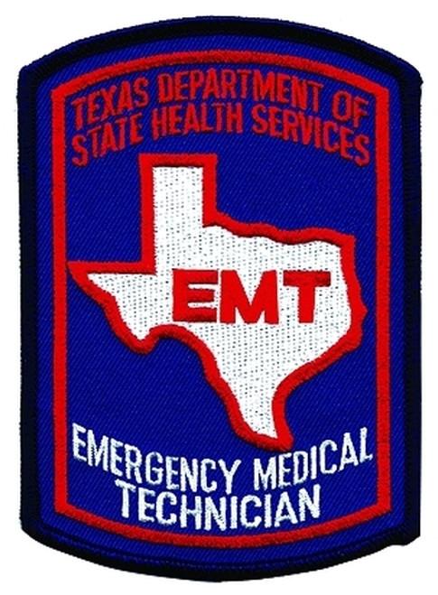"""TEXAS EMT Shoulder Patch, Full Color, 3-5/8x5"""""""