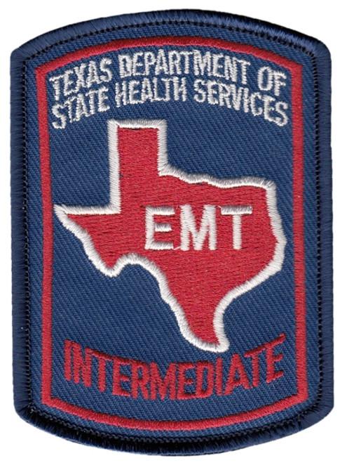 """TEXAS EMT INTERMEDIATE Cap Patch, Full Color, 2-1/8x3"""""""